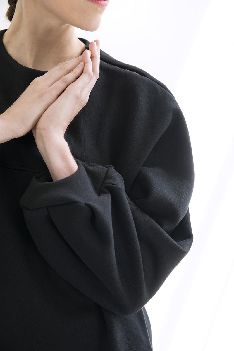 Otha sweaterjurk, gecertificeerd biologisch katoen, sweatstof