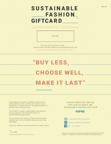 Sustainable Gift Card